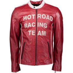 """Kurtki męskie bomber: Skórzana kurtka """"Hot Road"""" w kolorze czerwonym"""