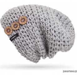 Handmade Czapka Krasnal   MUS BUTTON BEANIE. Szare czapki zimowe damskie Pakamera. Za 130,00 zł.