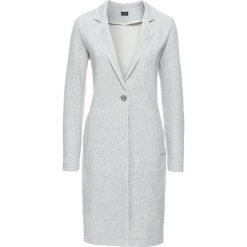 Płaszcz bonprix jasnoszary melanż. Szare płaszcze damskie pastelowe bonprix, melanż, z dresówki. Za 149,99 zł.