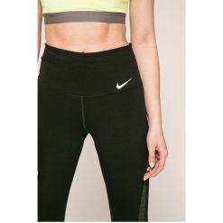 Nike - Legginsy. Czarne legginsy skórzane Nike, l. Za 199,90 zł.