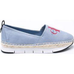 Calvin Klein Jeans - Espadryle. Szare espadryle damskie marki Calvin Klein Jeans, z jeansu. W wyprzedaży za 279,90 zł.