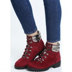 Bordowe Traperki Froya. Czerwone buty zimowe damskie marki Born2be, na obcasie. Za 79,99 zł.