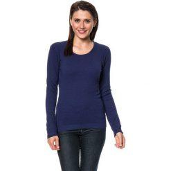 Swetry damskie: Sweter w kolorze granatowym