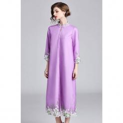 Płaszcz w kolorze fioletowym. Fioletowe płaszcze damskie marki Zeraco. W wyprzedaży za 379,95 zł.