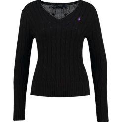 Swetry klasyczne damskie: Polo Ralph Lauren KIMBERLY Sweter polo black