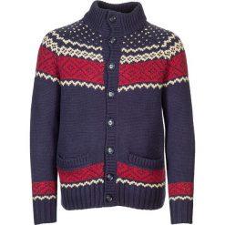 Sweter rozpinany w kolorze czerwono-granatowym. Czerwone kardigany męskie marki Otto Kern, m, ze splotem, ze stójką. W wyprzedaży za 215,95 zł.