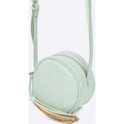 Pieces - Torebka. Szare torebki klasyczne damskie marki Pieces, w paski, z materiału, małe. W wyprzedaży za 69,90 zł.