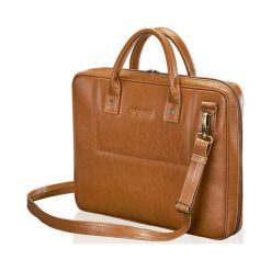 SKÓRZANA TORBA NA LAPTOPA MĘSKA SOLIER HALLE. Brązowe torby na laptopa marki Solier, ze skóry. Za 549,00 zł.