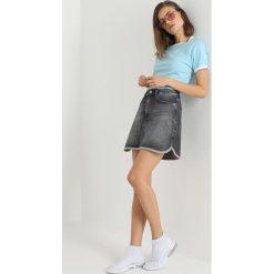 Calvin Klein Jeans MINI WESTERN Spódnica trapezowa alcamo black. Szare minispódniczki Calvin Klein Jeans, z bawełny, trapezowe. Za 399,00 zł.