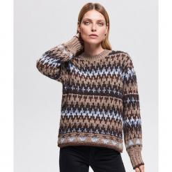 Sweter we wzory - Wielobarwn. Szare swetry klasyczne damskie Reserved, l. Za 139,99 zł.
