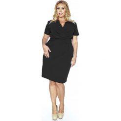 8b98318842 sukienki wieczorowe dla puszystych - zobacz wybrane produkty. -35%. Czarna  Elegancka Sukienka Plus Size z Założeniem Kopertowym. Czarne sukienki  damskie ...