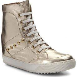 Sneakersy KAZAR - Diega 28408-01-13 Złoty. Białe sneakersy damskie marki Kazar, ze skóry, na wysokim obcasie, na szpilce. W wyprzedaży za 419,00 zł.