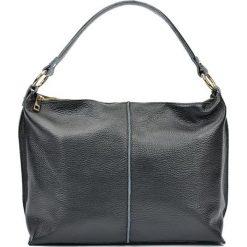 Torebki i plecaki damskie: Skórzana torebka w kolorze czarnym – (S)44 x (W)26 x (G)13 cm
