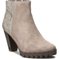 Botki TAMARIS - 1-25309-27 Taupe Comb 344. Szare buty zimowe damskie marki Tamaris, z materiału. W wyprzedaży za 219,00 zł.