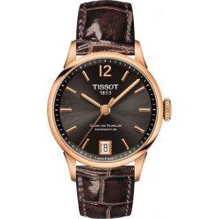 PROMOCJA ZEGAREK TISSOT T-Classic T099.207.36.447.00. Brązowe zegarki męskie TISSOT, ze stali. W wyprzedaży za 3212,00 zł.