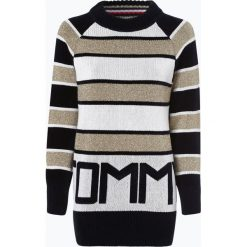 Tommy Hilfiger - Sweter damski – Tommy Icons Logo Sweater, złoty. Żółte swetry klasyczne damskie TOMMY HILFIGER, m. Za 599,95 zł.