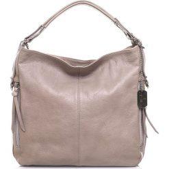 Torebki klasyczne damskie: Skórzana torebka w kolorze szarobrązowym – 36 x 39 x 16 cm