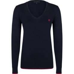"""Swetry klasyczne damskie: Sweter """"Air"""" w kolorze granatowym"""