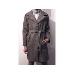 Wełniany płaszcz CLASSY BROWN. Brązowe płaszcze damskie pastelowe TRUE COLOR by Ann, l, jodełka, z wełny, klasyczne. Za 1290,00 zł.