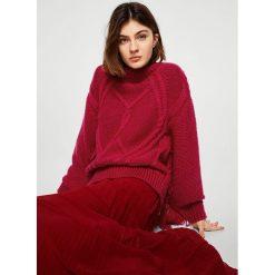 Mango - Sweter Flecado. Szare swetry klasyczne damskie marki Mango, m, z dzianiny. W wyprzedaży za 79,90 zł.