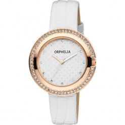 Zegarek kwarcowy w kolorze biało-różowozłotym. Białe, analogowe zegarki damskie Esprit Watches, metalowe. W wyprzedaży za 104,95 zł.