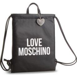 Plecak LOVE MOSCHINO - JC4094PP16LM100B  Argento. Czarne plecaki damskie marki Love Moschino, ze skóry ekologicznej, klasyczne. Za 659,00 zł.
