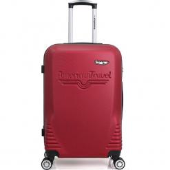 """Walizka """"DC"""" w kolorze bordowym - 49 x 75 x 29,5 cm. Czerwone walizki American Travel, z materiału. W wyprzedaży za 217,95 zł."""