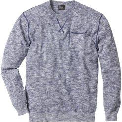 Sweter Regular Fit bonprix niebieski indygo - biały melanż. Niebieskie swetry klasyczne męskie bonprix, l, melanż, z kontrastowym kołnierzykiem. Za 74,99 zł.