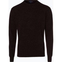 Swetry klasyczne męskie: Andrew James – Sweter męski z dodatkiem jedwabiu, brązowy