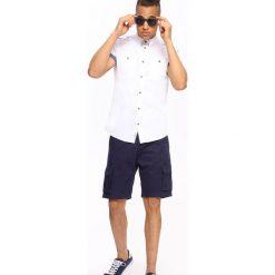KOSZULA KRÓTKI RĘKAW MĘSKA. Brązowe koszule męskie marki QUECHUA, m, z elastanu, z krótkim rękawem. Za 69,99 zł.