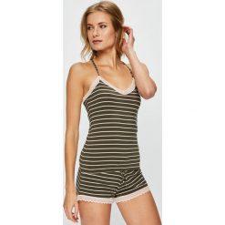 Undiz - Top piżamowy. Brązowe piżamy damskie marki Undiz, l, z dzianiny. W wyprzedaży za 34,90 zł.