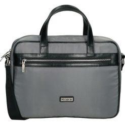 Szara torba na tablet. Szare torby na laptopa marki Kazar, w paski, z tkaniny, duże. Za 279,00 zł.