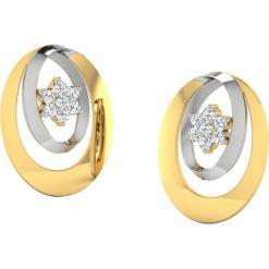 Biżuteria i zegarki: Złote kolczyki z diamentami
