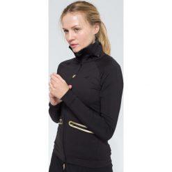 Bluzy rozpinane damskie: Bluza treningowa damska BLDF100 - czarny - 4F