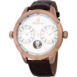 """Zegarki męskie: Zegarek """"New Haven"""" w kolorze brązowo-różowozłoto-białym"""