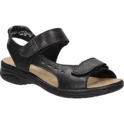 Sandały Rieker 64569-00. Czarne sandały damskie marki Rieker, z materiału. Za 238,99 zł.