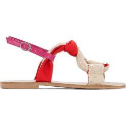 Rzymianki damskie: Sandały z płótna, wiązane