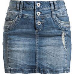 Sublevel Ladies Destroyed Denim Skirt Spódnica Mini niebieski. Niebieskie minispódniczki marki Sublevel, s, z denimu. Za 99,90 zł.