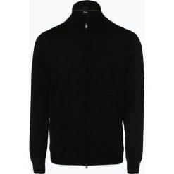 Swetry rozpinane męskie: BOSS - Kardigan męski – Balonso-L, czarny