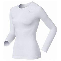 Odlo Koszulka Odlo Shirt l/s crew neck EVOLUTION LIGHT - 181001 - 181001S. Szare topy sportowe damskie Odlo, l. Za 189,95 zł.