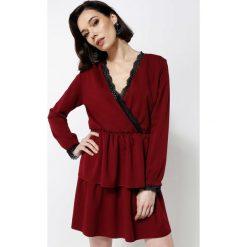 Bordowa Sukienka Deep Love. Czerwone sukienki hiszpanki other, uniwersalny, mini. Za 59,99 zł.