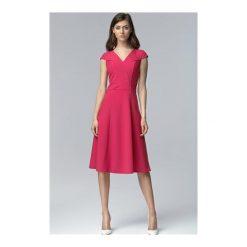 Sukienka Celine S60 fuksja. Czerwone sukienki mini NIFE, s, z krótkim rękawem. Za 139,00 zł.