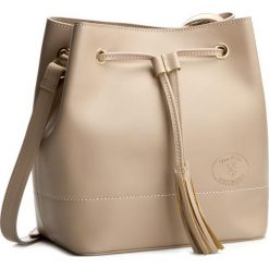Torebka CREOLE - K10239 Pudrowy Róż. Brązowe torebki worki Creole, ze skóry. W wyprzedaży za 219,00 zł.