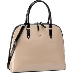 Torebka CREOLE - RBI10079 Beż/Czarny. Brązowe torebki klasyczne damskie Creole, ze skóry. W wyprzedaży za 289,00 zł.