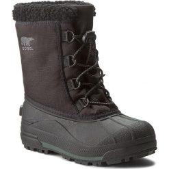 Buty zimowe chłopięce: Śniegowce SOREL – Youth Cumberland NY1886 Black 010