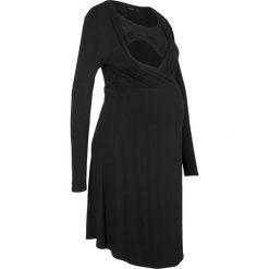 Sukienka kopertowa ciążowa z koronką bonprix czarny. Brązowe sukienki ciążowe marki Mohito, l, z kopertowym dekoltem, kopertowe. Za 109,99 zł.