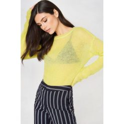 Swetry oversize damskie: Gestuz Sweter Molly – Yellow