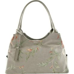 Torebki klasyczne damskie: Skórzana torebka w kolorze szarym – (S)38 x (W)15 x (G)22 cm