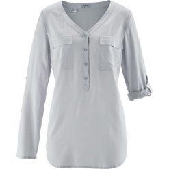Bluzki damskie: Bluzka z wiskozy, długi rękaw bonprix srebrny matowy