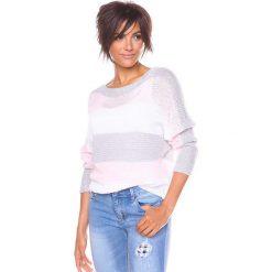 """Odzież damska: Sweter """"Olivia"""" w kolorze szarym"""